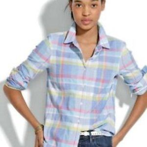 MADEWELL Women's Madras Plaid Button Down Blouse